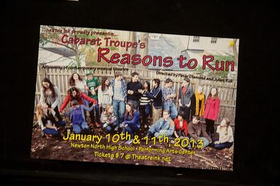 Cabaret Troupe 2013- Reasons to Run